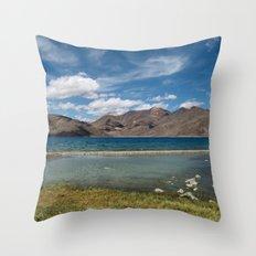 Pangong Tso Lake Throw Pillow