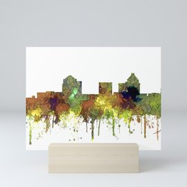 Greensboro NC Skyline SG - Safari Buff Mini Art Print
