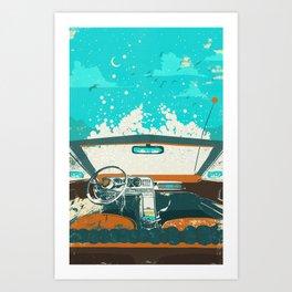 BUBBLE DRIVE Art Print