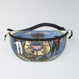 Wisconsin State Seal Fanny Pack