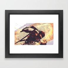 Black steel Genji Framed Art Print