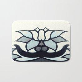 Retro Lotus  Bath Mat