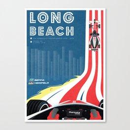Mahindra Racing FIA Formula E Season Two Race 06 Long Beach ePrix Poster Canvas Print