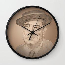 Buster Keaton Portrait Wall Clock