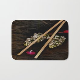 Chop Sticks Pattern Bath Mat