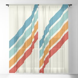 Alator - Classic 70s Retro Summer Stripes Sheer Curtain