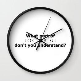 Oh woe Wall Clock
