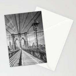 NEW YORK CITY Brooklyn Bridge   Monochrome Stationery Cards