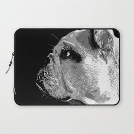 english bulldog dog vector art black white Laptop Sleeve