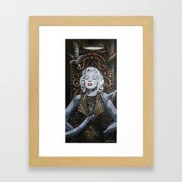 Cyborg Marilyn Framed Art Print