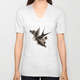 American Traditional Swallow Unisex V-Neck
