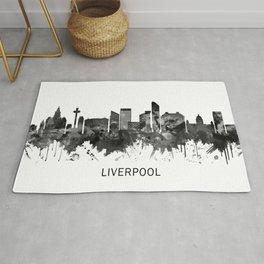 Liverpool England Skyline BW Rug