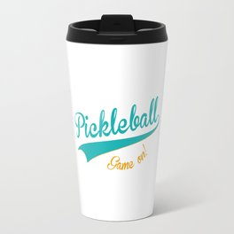 Pickleball Old School Game On Travel Mug