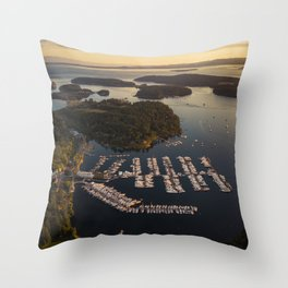 Roche Harbor Throw Pillow