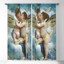 """Angels in love in heaven with butterflies"" Blackout Curtain"