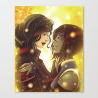 korrasami Canvas Prints featuring Korrasami by Dani Taillefer