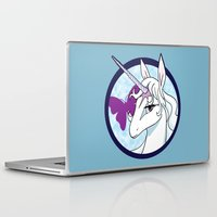 the last unicorn Laptop & iPad Skins featuring Last Unicorn by AriesNamarie