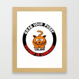Grab Your Happy Cat Framed Art Print