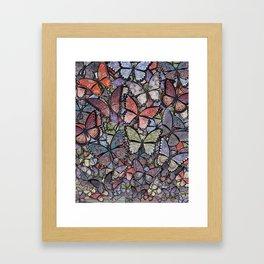 butterflies galore grunge version Framed Art Print