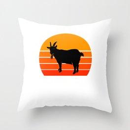 I Just Really Like Goats Ok Goat Farmer Herder Goat Lady Farm Girl Throw Pillow
