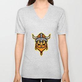 Viking Warrior or Norse Raider Head Mascot Unisex V-Neck