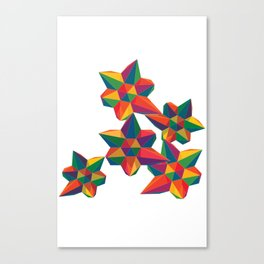 Hexagon Explosion Canvas Print