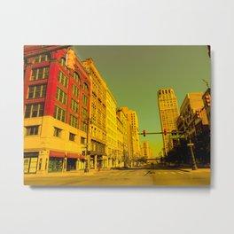 Detroit poloroid  Metal Print