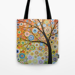Abstract Art Original Landscape Painting ... Rays of Hope Tote Bag