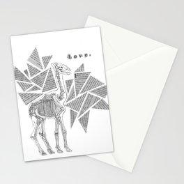 Skeletal Giraffe Stationery Cards