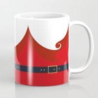 santa Mugs featuring Santa by Sara Eshak