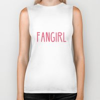fangirl Biker Tanks featuring Professional Fangirl  by Whispering Words