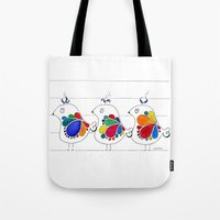 folk Tote Bags featuring folk by Gosia&Helena