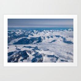 Aerial Glacier Four - Alaska Art Print