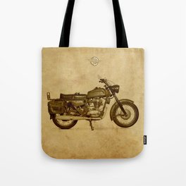Ducat Condor 350 Militare 1973 old motorcycle militar war bike Tote Bag