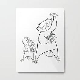 Ninja Training - Darts Metal Print