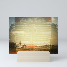 Farm And Farmall Double Exposure Mini Art Print