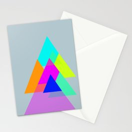 Triangles - neon color scheme series no. 1 Stationery Cards