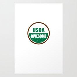 USDA AWESOME Art Print