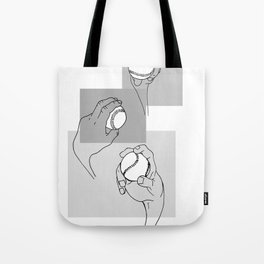 Anatomy of a Baseball Pitch Tote Bag
