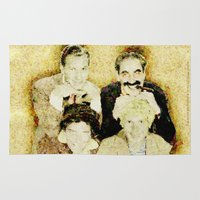 marx Area & Throw Rugs featuring MARX BROTHERS - 004 by Lazy Bones Studios