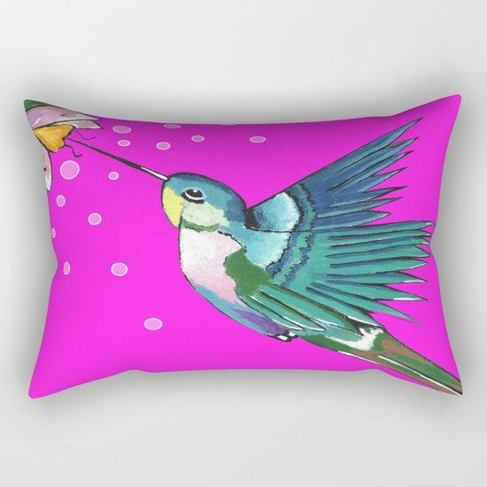 Spirited Hummingbird Rectangular Pillow