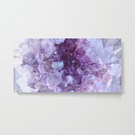 Crystal Gemstone Metal Print