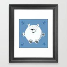 Polar bear form the circle series Framed Art Print