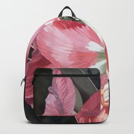 Pink Amaryllis Watercolor Botanical Garden Flower Painting Nature Art Backpack