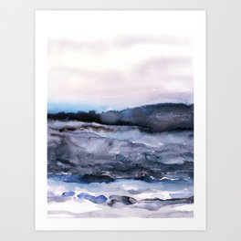 layers of colour 2 Art Print