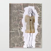 newspaper Canvas Prints featuring Newspaper by Melania B