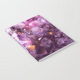 Violet Purple Amethyst Crystal Notebook