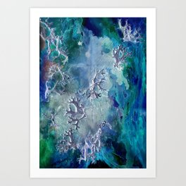 Lunar neuronal essence Art Print