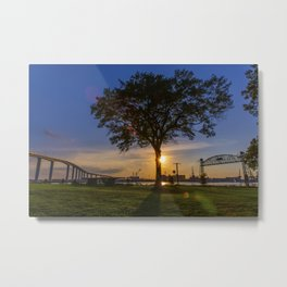 Sunset At Elizabeth River Park Metal Print