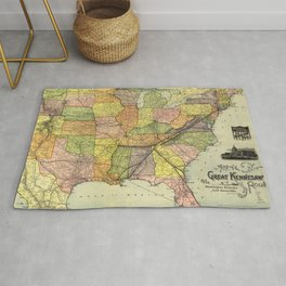 Great Kennesaw Route Map (1890) Rug